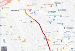八幡神社への道順